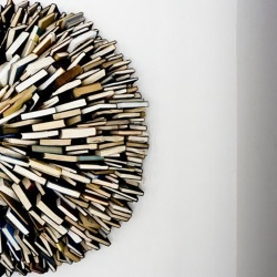 Book sculpture by Federico Uribe