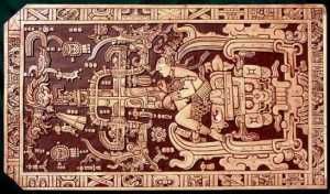 "King Pakal in his ""spaceship."" From http://www.withoutcapricorns.net/forum/unearthed/An-Ancient-Astronaut-Thesis.html"