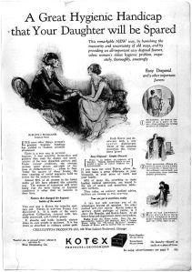 Kotex ad from 1926: http://www.mum.org/kotmar26.htm