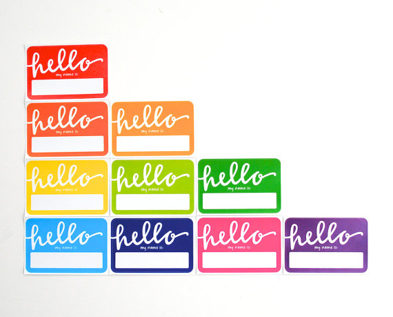 Name Tags by EmDashPaperCo on Etsy