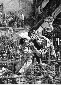 Frankenstein by Bernie Wrightson: http://comicsalliance.com/best-art-ever-this-week-02-08-13/
