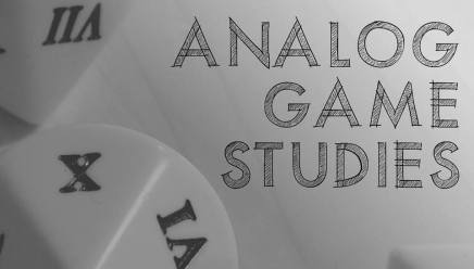 New Journal Alert: Analog Game Studies