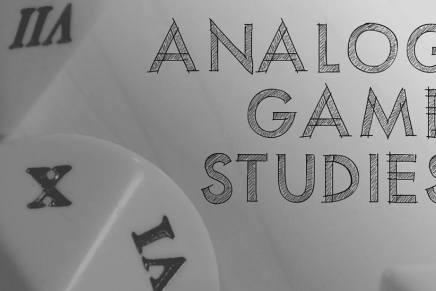 New Journal Alert: Analog GameStudies