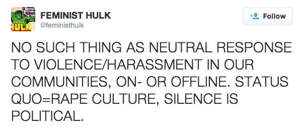 Feminist Hulk Twitter Feed: https://twitter.com/feministhulk