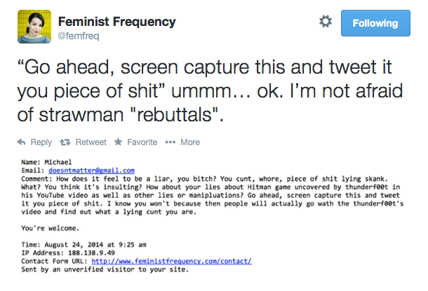 Feminist Frequency Twitter Feed: https://twitter.com/femfreq