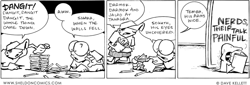 Darmok and Jalad at Tanagra comic. Copyright Dave Kellett 2011.