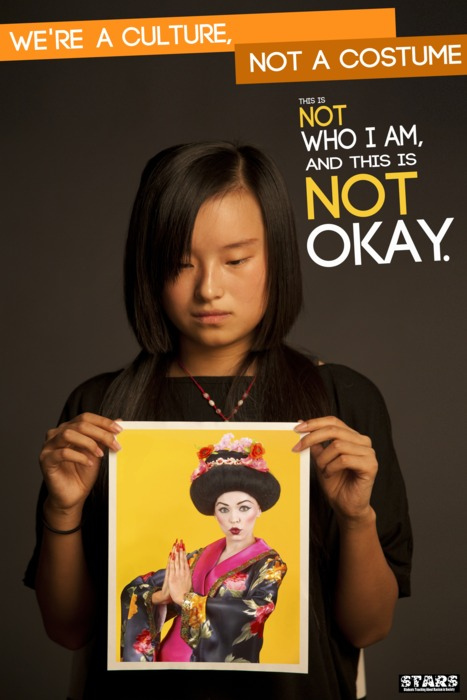 """We're A Culture Not a Costume"" Campaign via: http://www.ohio.edu/orgs/stars/Poster_Campaign.html"