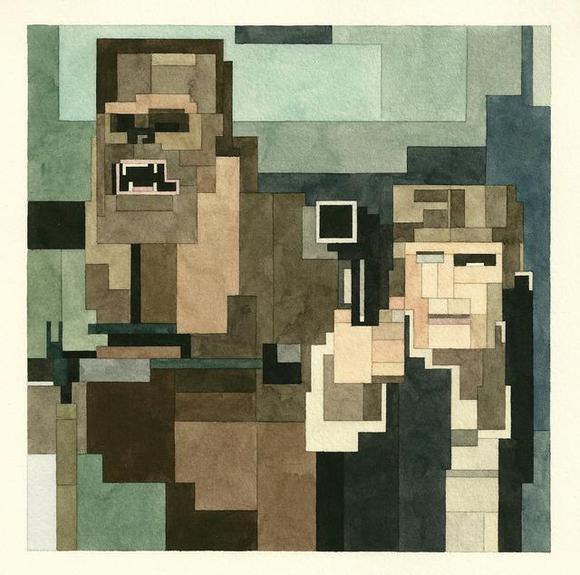 """Han Solo and Chewbacca"" by Adam Lister (http://www.adamlistergallery.com/)"