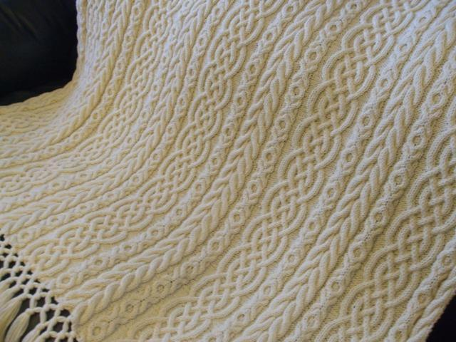 Celtic Aran Afghan from Sharondipity Designs