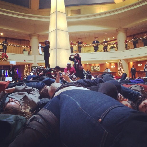 """Anthropological """"die in"""" which took place in the Marriot Wardman Park hotel."""