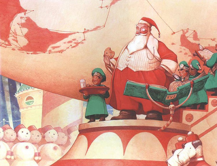Santa Calls (2001), William Joyce. Source: http://stuartngbooks.com/images/detailed/16/joyce_santa_calls_1.jpg