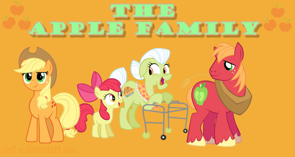 All Good Apples! The Apple Family by Stell-e on Deviantart