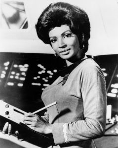 NIchelle Nichols as Uhura, Wikipedia, Creative Commons