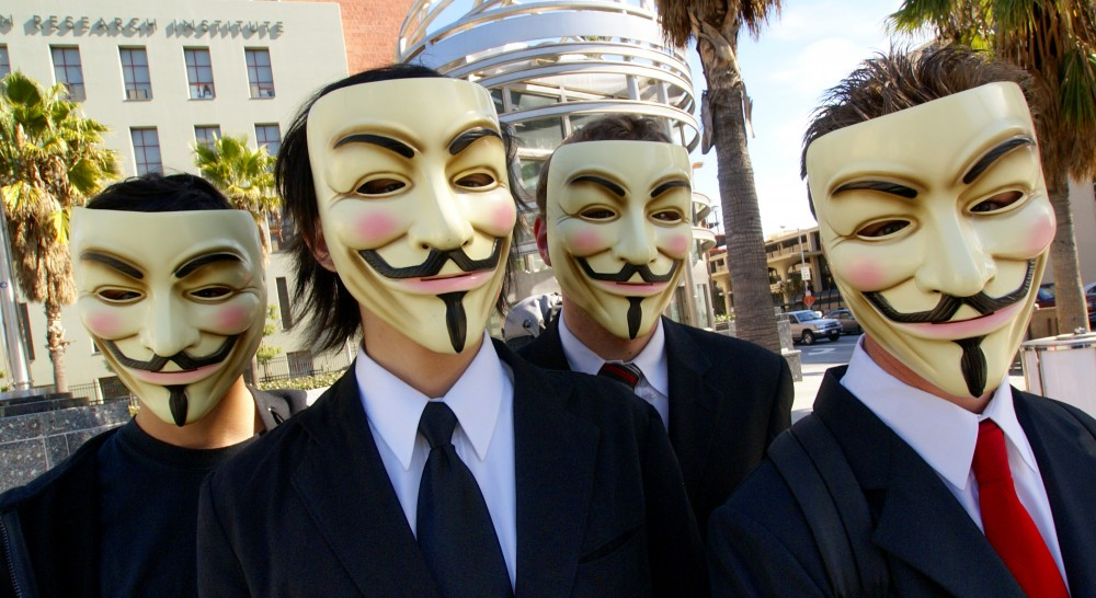 Anonymous, Creative Commons, Wikipedia
