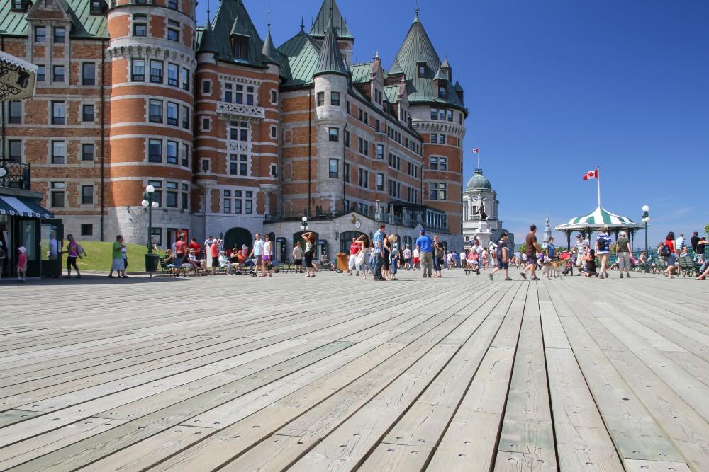 La terrasse Dufferin et le Château Frontenac, Québec