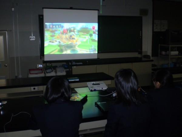 Students playing Mario Party