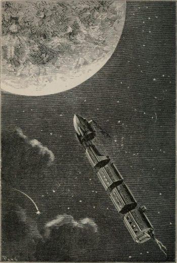 Image tirée de la page 6 du livre De la Terre à la Lune (1874)