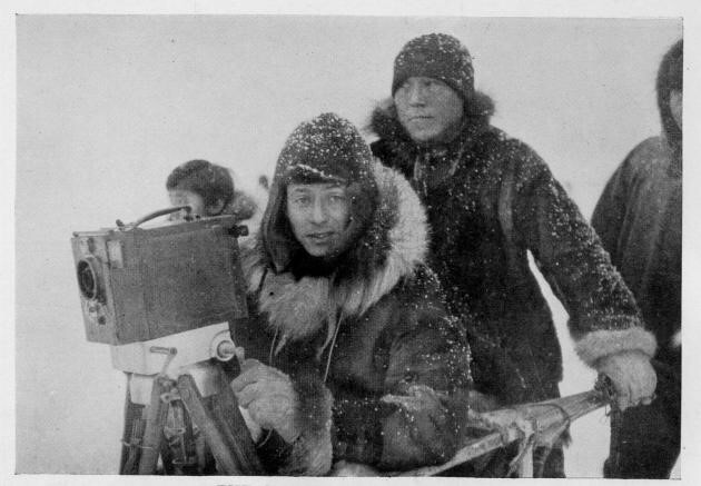 Flaherty on the set of Nanook