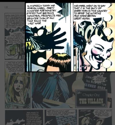 Frame from Alan Moore's V for Vendetta