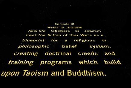 When Science Fiction meets Religion: The Case of Jediism