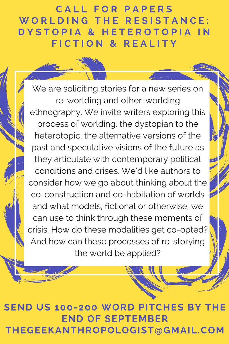 Call for Papers–Worlds of Resistance: Dystopia and Heterotopia in Fiction and Reality