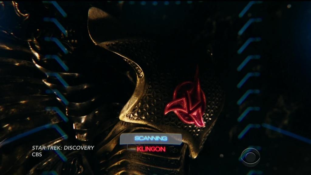 Burnham discovering the Klingon crest