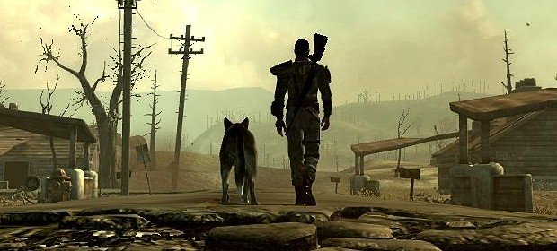 Fallout 4: just a sole survivor and his dog against the apocalypse