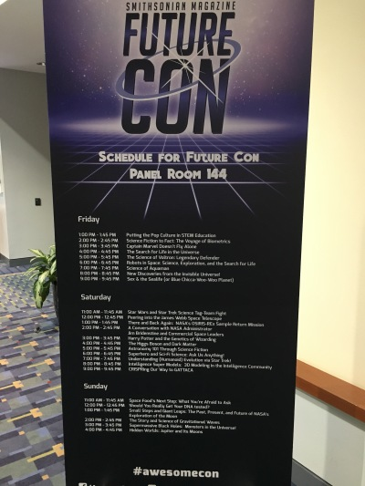 Future Con programming at Awesome Con